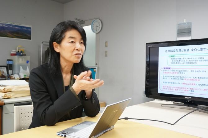 도쿄대학교 도시기반안전공학국제연구센터 구와노 레이코 교수. - 도쿄=이혜림 기자 pungnibi@donga.com 제공 제공